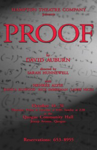 hampton theatre company's production of proof