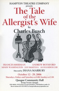 hampton theatre company's production of the tale of the allergists wife